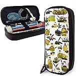 HFHY Pencil Case Olivenöl Big Capacity Pen Bag Große Lagerung