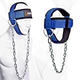DMoose Fitness Neck Harness for Weight Lifting, Resistance Training, or Injury Recovery with Long Steel Chain,...