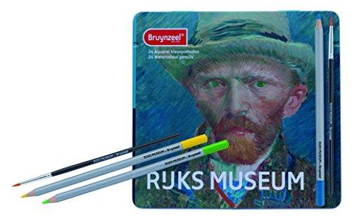 Royal Talens Bruynzeel Rijks Museum Edition, Artists' Set of 24 Design Watercolor Pencils (5701M24)