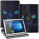 UC-Express Tablet Schutzhülle kompatibel für Asus ZenPad 10 Z301ML Z301MFL Z300M Hülle Tasche 360° Drehbar Kunstleder Standfunktion Cover Universal Hülle, Farben:Motiv 3