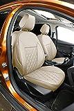 Easeadd Fundas De Asiento De Coche A Medida para Compatible con Ford Fiesta 2012-2017 5Puertas Titanium,Zetec,Style - Cuero(Beige)