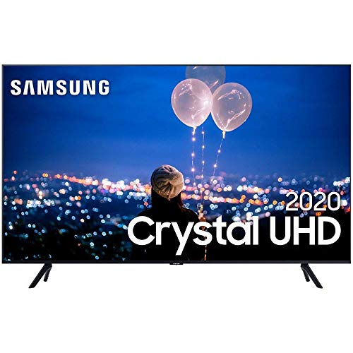 "Smart TV LED 50"" 4K Cristal UHD Samsung UN50TU8000GXZD, HDMI 2, USB 1, WI-FI"