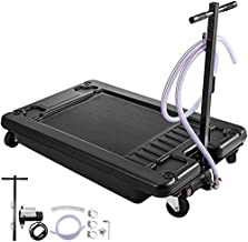 Bestauto Low Profile Oil Drain Pan 17 Gallon Oil Drain Pan with Electric Pump 64L Oil Change Pan with 10' Hose for Car SUV Trailer Draining Oil