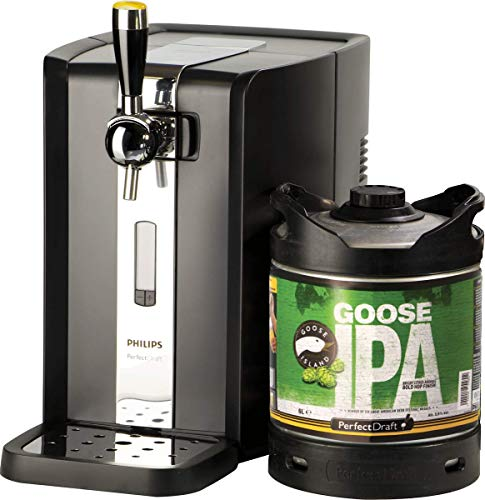 Grifo de cerveza PerfectDraft. Incluye 1 un barril de 6 litros - Incluye un depósito de 5 euros. (Goose Island IPA) - Regalo ideal