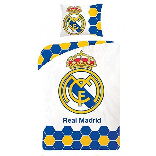 Real Madrid Football - Juego de cama - Funda nórdica 140 x 200 cm