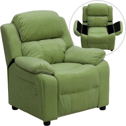 Flash Furniture Avocado Microfiber Kids Recliner