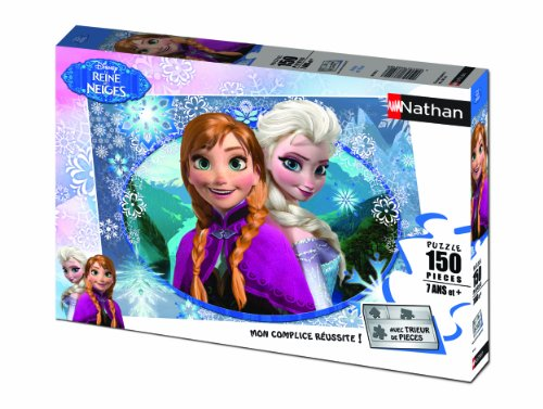 "Nathan - 86858 - Puzzle Classico ""Frozen"", Anna e Elsa, 150 pz."