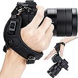 JJC Mirrorless Camera Hand Strap Grip for Sony A7C A7SIII A7RIV A7RIII A7III A7RII A7SII A7II A7S A7R IV III II A1 A9 II ZV-E10 A6600 A6500 A6400 A6300 A6100 A6000 RX1 RX1R RX1RII RX10 IV III II A99II