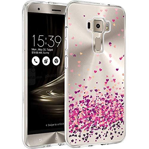 QFSM Coque TPU Souple Shell Crystal Transparente Case Protection Gel Silicone Cover Étui Housse pour ASUS Zenfone 3 ZE520KL (5.2 Pouces)-WM85
