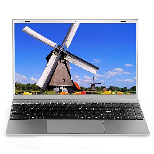 "Laptop 15.6 inch Windows 10 Notebook 8GB RAM 128GB SSD - YELLYOUTH 15.6"" Ultra Slim Full HD Laptop Intel J4115 Quad Core Computer with WiFi Mini HDMI Bluetooth Grey"