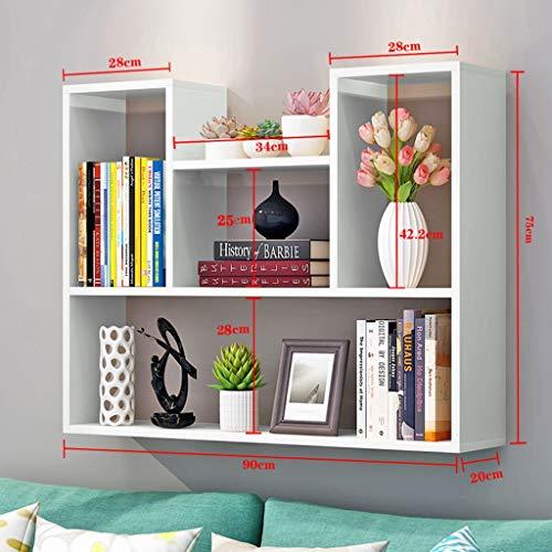 Planken XUERUI Wandplank Opknoping Board Slaapkamer Boekenkast Muur Frame Wandkast Een Woord Partitie Moderne Eenvoudige 60 * 90cm Breed Gebruik