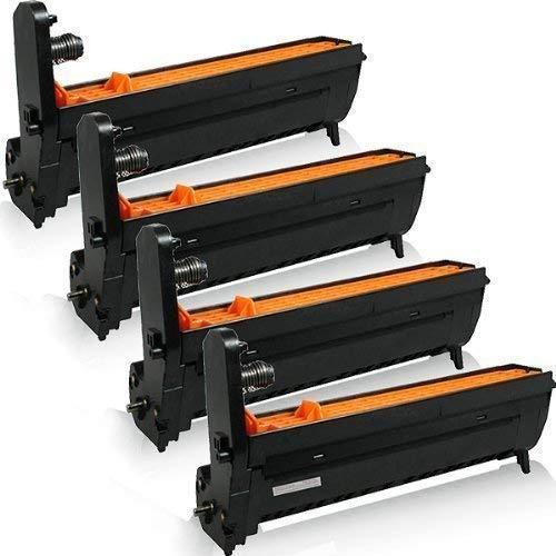 4x kompatible XXL Trommeleinheiten für OKI C3100 C3200 N C5100 N C5150 N C5200 N C5200 NE C5250 DN C5250 N C5300 DN C-3100 C-3200 N C-5100 N C-5200 N C-5250 C-5300 - Black Cyan Magenta Yellow Drum Kit