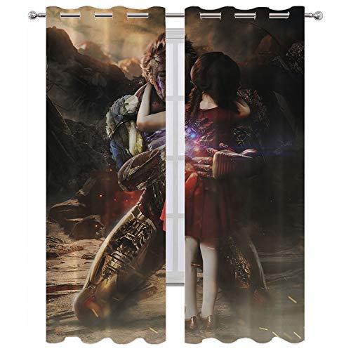 SSKJTC - Cortinas largas para decoración de ventanas (72 x 72 cm), diseño de hombre de hierro