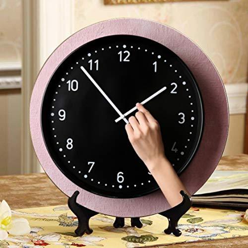 Exhibición de relojes y relojes clásicos para platos Exhibición de platos Placa oscilante para el hogar con soporte de exhibición Decoración Hogar Bonitos platos de cerámica