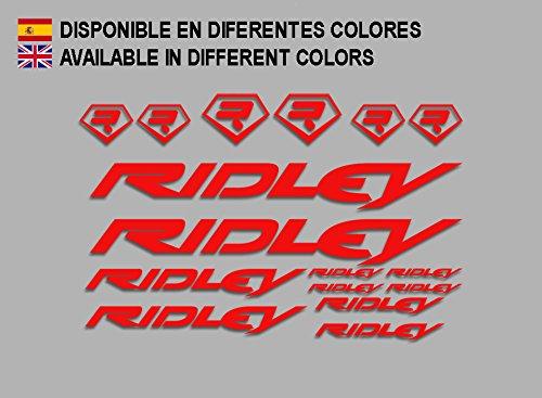 Ecoshirt 9U-5Q5C-ZBEW Aufkleber Ridley Bike F133 Aufkleber Sticker Decals Aufkleber, Rot