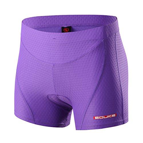 Souke Sports Damen Fahrrad Unterwäsche 3D Gepolstert Atmungsaktiv Fahrrad Unterwäsche Short