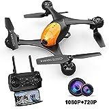 ScharkSpark Drohne SS41 Drohne mit 2 Kameras - 1080P FPV HD Kamera/Video und 720P Kamera, optischer Flugstabilisator, RC Spielzeug Quadcopter