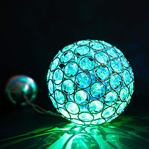 Colour Changing Solar Powered Crystal Ball Light - Waterproof and comes with Built-in Night Sensor – Decoration Ornaments Lantern Alternative – Ideal Lamp for Hanging on Trees, Outdoor, Garden, Fence, Patio, Yard, Walkway, Driveway, Outside Wall, Garage, Shed, Path by SPV Lights: The Solar Lights & Lighting Specialists (Free 2 Year Warranty Included)