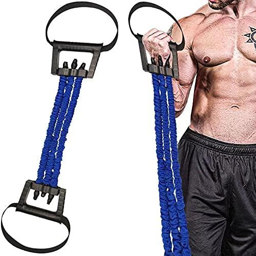 Barley Direct Brust-Expander, Verstellbarer Brust Expander mit 3 Zugstärken, Trainingsgerät für Muskeln, Gymnastikband Fitness Expander für Zuhause, Fitnessgeräte für Männer/Frauen