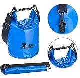 Xcase Motorrad Säcke: Wasserdichter Packsack, strapazierfähige Industrie-Plane, 5 l, blau...