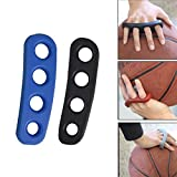EMPHY 2Pcs Basketball Shooting Trainer Training Aid for Adult Silicone Shot Lock Hand Palm Orthotics (Blue/Black)