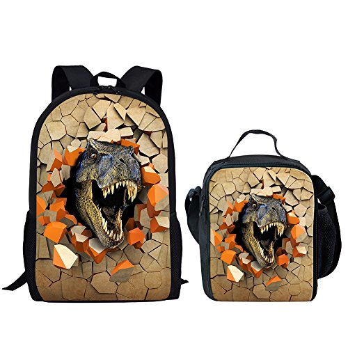 Middle School Student Backpack Lunch Bag Set for Boys Durable Large School...