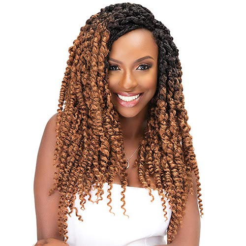 "MULTI PACK DEALS! Janet Collection Synthetic Hair Crochet Braids NALA TRESS Boho Twist Braid 18"" (5-PACK, 1B)"