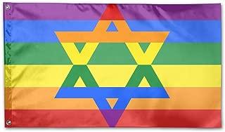 Xmkenjdnje Jewish Gay Pride Flag 3x5 Foot Home Garden Flags