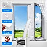Sellos de la ventana, Sellos de ventanas para aires acondicionados portátiles y secadoras para aires acondicionados portátiles, Dispositivo de protección de intercambio de aire con cremallera / ganc