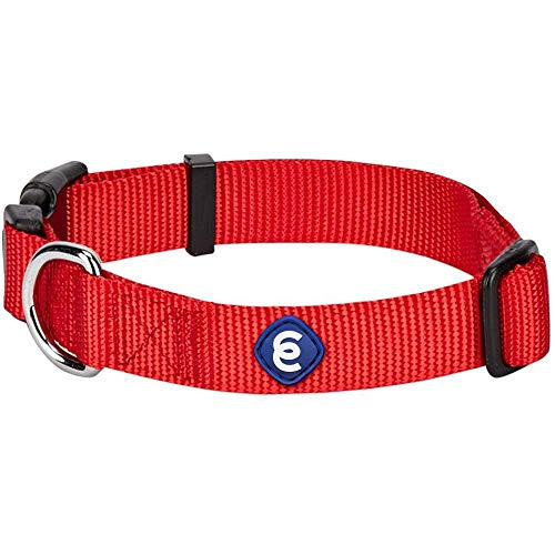Blueberry Pet Essentials 21 Colors Classic Dog Collar, Rouge Red, Small, Neck 12'-16', Nylon Collars for Dogs