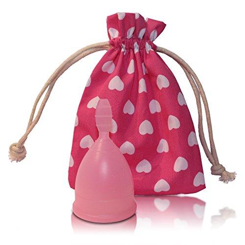 Menstruationstasse CozyCup SPORT BPA-frei und vegan - Nachhaltige Menstruationstassen für sportliche Frauen (rosa, 1 - klein)