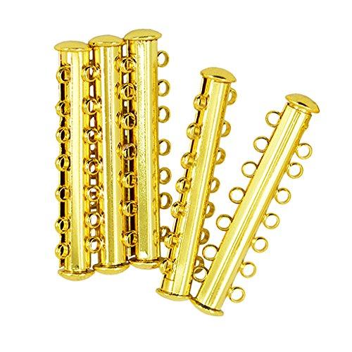 SDENSHI Cierre magnético de tubo en 10 partes con más hilos para joyas – 7 hilos 40 x 10 x 6 mm