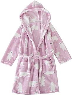 0bce7c28b1031 LPATTERN Enfant Fille Garçon Robe de Bain Doux Flanelle Robe de Chambre  Polaire Chemise de Nuit
