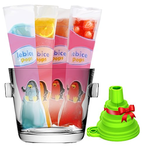Lebice - 50 Popsicle Bags + Funnel + Recipes E-book
