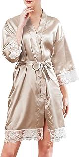 Women Lingerie,Sexy Summer Women Silk Lace Robe Dress Babydoll Nightdress Sleepwear Kimono