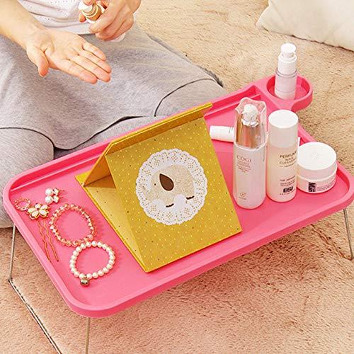 FFDGHB Tragbarer Tisch Schreibtisch Sofa Tisch Mit Beinen Klappbett Tablett Tragbare FrüHstüCksbett Tablett Zum Lernen