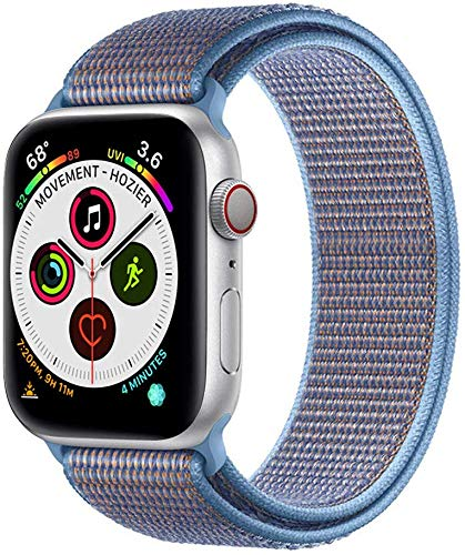 Bracelet Wristband Compatible with Apple Watch Band 38mm 40mm 42mm 44mm Soft Nylon Replacement for iwatch Series 4 3 2 1 (Cerulean, 38/40mm)