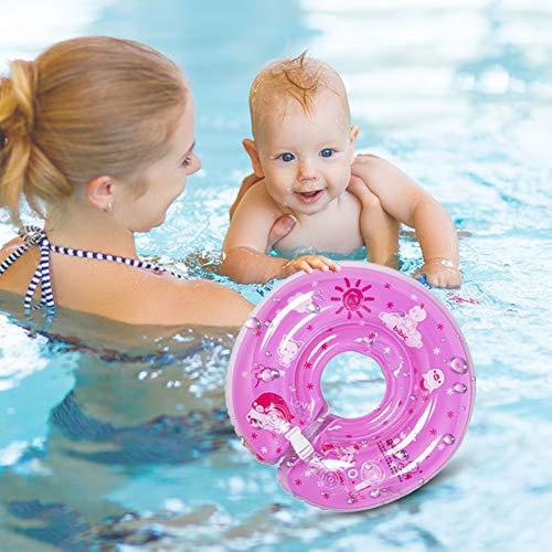 SANGSHI Flotadores para bebés, lindo círculo de natación de PVC grueso, protección para la piscina, juguete de agua para el verano, con doble capa, a prueba de fugas