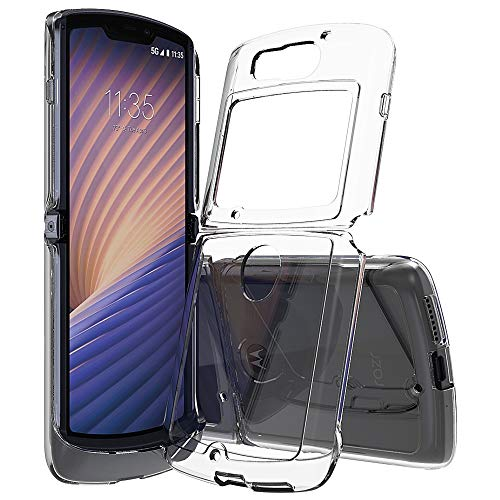 Futanwei Crystal Clear Hüllen für Motorola Razr 5G Hülle 6.2 Zoll (2020), [Slim Lightweight] [Scratch-Resistant] [Military Drop Tested] Ultra Clear Hülle für Motorola Razr 5G Version, Klar