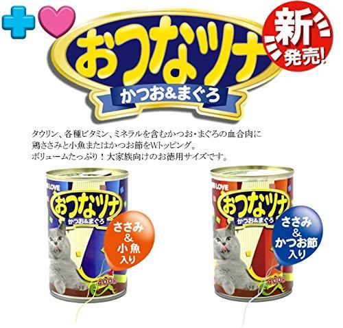 おつなツナキャットフードささみ&かつお節入り400g×12缶(ケース販売)