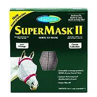 Farnam SuperMask II Classic Horse Fly Mask, X-Lrg, Assorted by Farnam