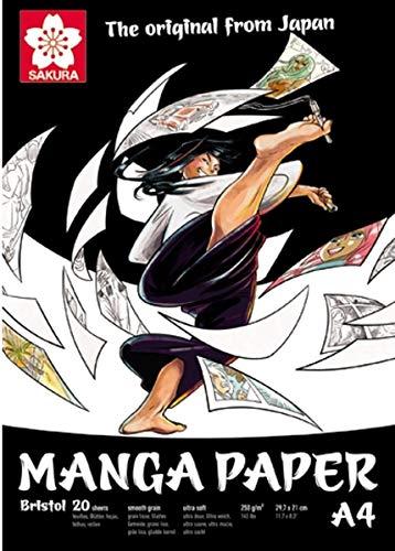 Manga Paper, Sacura, Bristol 20, 250 g/m2, A4, 20 Blatt