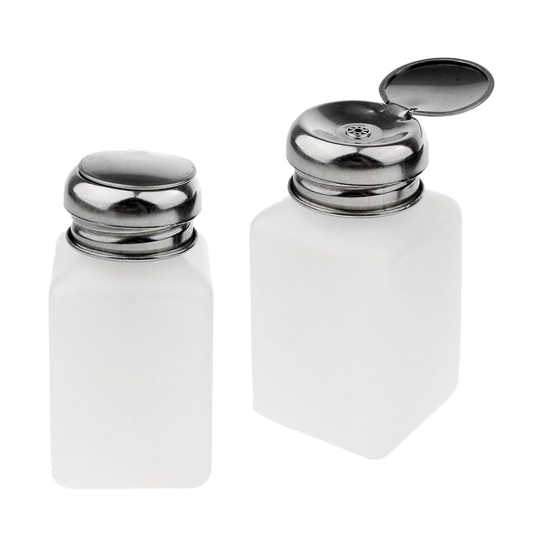 セットアップパーティー暗唱するSM SunniMix 2個 プレスボトル 空ボトル ポンプボトル ロック可能 アルコール 液体 貯蔵 保護 全3サイズ - 200ミリリットル