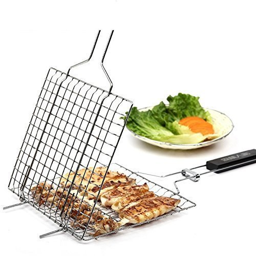 ParaCity BBQ Barbecue Grilling Basket Roast Folder Tool
