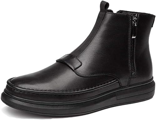 botas Martin Zapaños Oxford botas para Adultos botas De Seguridad Cuero Clásico otoño Invierno Primera Capa De Cuero Casual Más Terciopelo
