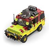 Tenhorses Classic Dinosaurios Park MOC - Vehículo de excursión – Technic Jurassic Car bloques de construcción compatible con Lego, juguete de construcción, 310 piezas