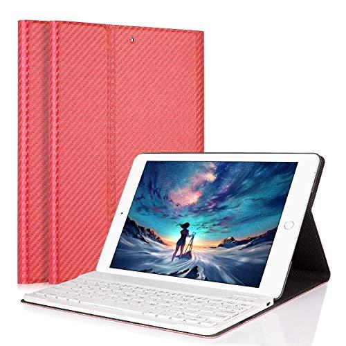"""LUCKYDIY iPad Air 1 Air 2 Tastiera Cover, Tastiera di Lingua Italiana Bluetooth Wireless Rimovibile con Cavo Ricarica USB per Apple iPad 9.7"""" Custodia Cover Protettiva in Pelle Sintetica"""