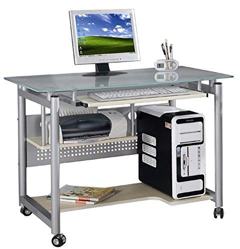 YELLOO Wheel - Mesa de Escritorio de diseño para el Ordenador, para ubicar en la Oficina o en casa