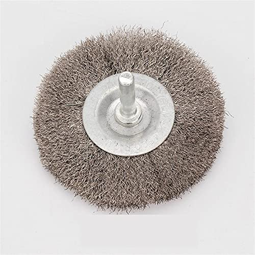 WNJ-Tools 1pc 75 * 6 mm de Alambre de Acero Inoxidable Suave Cepillo for Desoxidación Pulido Rueda de Pulido de Cabeza Plana de Alambre de Acero (Color : Stainless Steel)