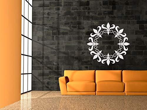 Decoración de pared de Fleur Di Lis, Medallón de techo, Decoración de ducha de boda, Mardi Gras, regalo de fiesta de cumpleaños, diseño decorativo para el hogar